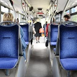 Intérieur bus sièges en tissus